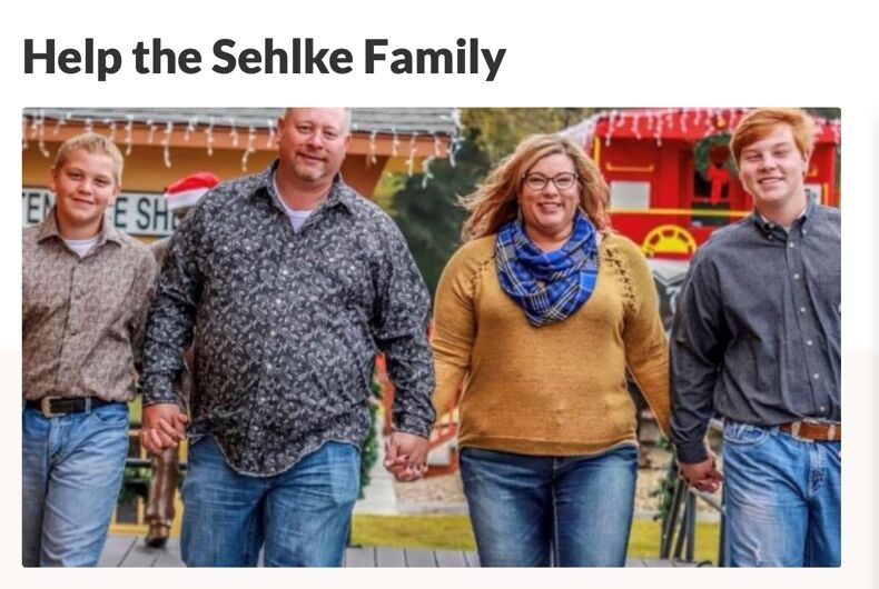 The Sehlke family in happier days.