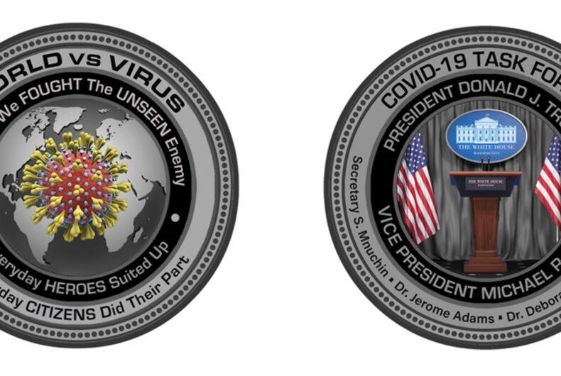 The White House Gift Shop's commemorative coronavirus coin