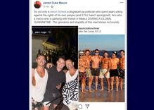 "Aaron Schock is partying with a group of gay men in Mexico for his ""self-isolation"""