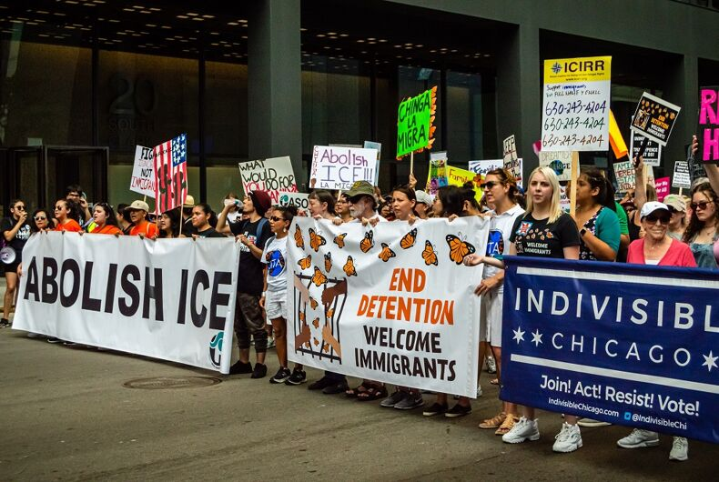 July 13, 2019: Protest against ICE Detention Centers in Chicago.