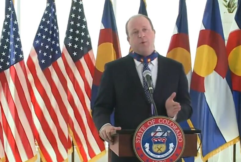 Jared Polis at the press conference