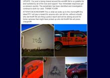 Lesbian couple's house vandalized with hate speech & obscene drawings