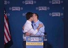 That time Mayor Pete kissed Chasten after announcing he was running for President