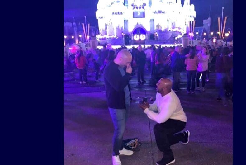 Shannon Bennett proposing to Jonathan Frey