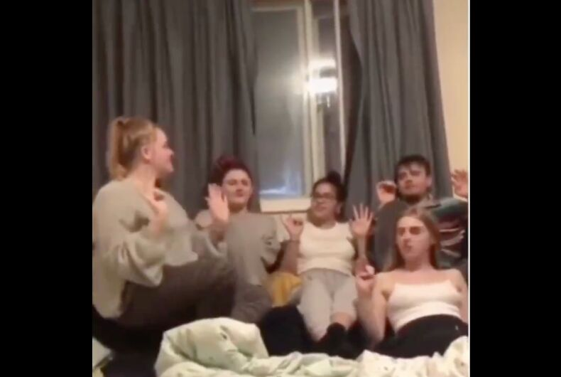 Viral video shows moment woman slyly confronts gay friend who slept with her boyfriend