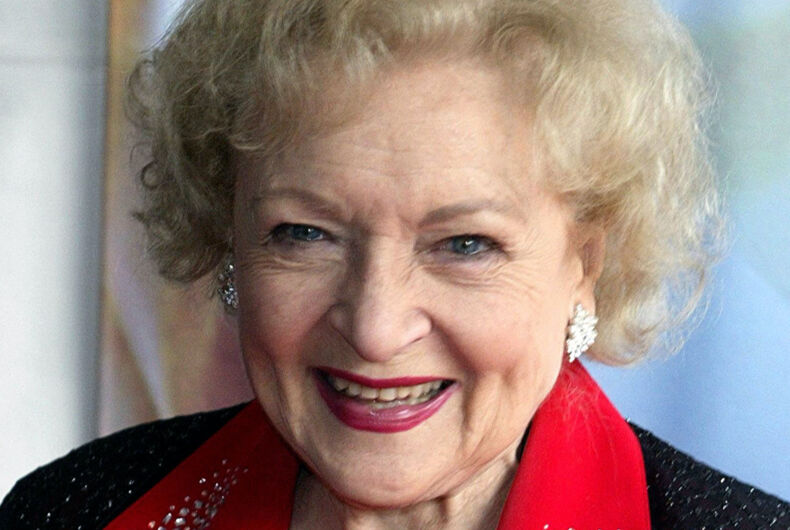Actor and gay icon Betty White