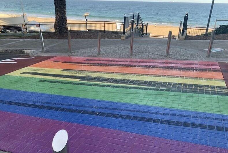 Wollongong, Australia's rainbow crosswalk keeps getting defaced