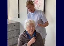 Ellen gives her mom a butch buzz cut for her 90th birthday