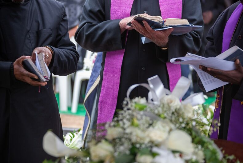 Ministers at a funeral