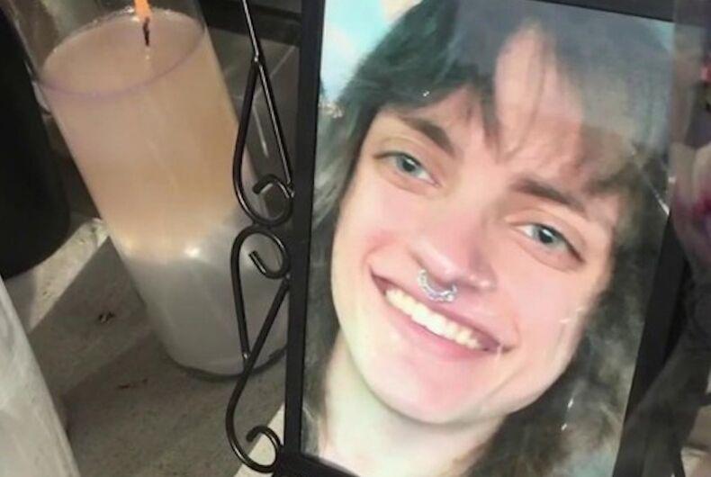 A memorial for murdered transwoman Helle Jae O'Regan of San Antonio