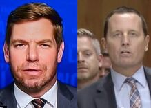 Rep Eric Swalwell shreds gay Trump administration official Richard Grenell on Twitter