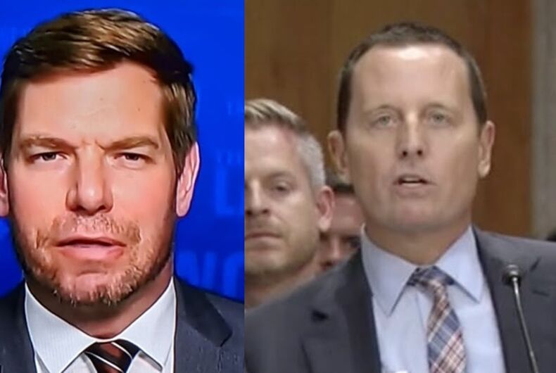 Rep. Eric Swalwell (D-CA) and former Director of National Intelligence Richard Grenell