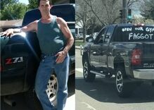 """Truck painted with """"OPEN OUR GYMS F****T"""" cruises Colorado to protest safer-at-home order"""