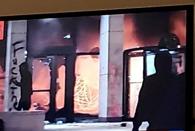 The headquarters of the AFL-CIO in Washington, DC was set on fire