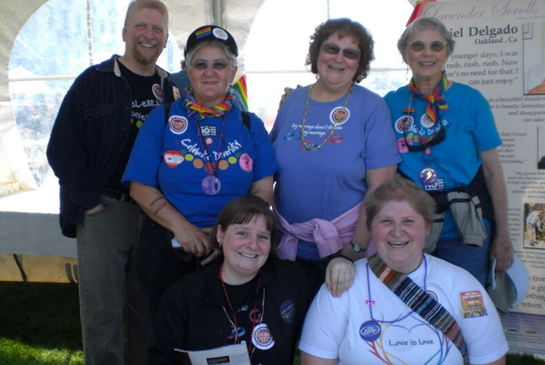 Barbara Bass, Col. Pat Thompson, and the Heberlings (John, Teri, Marlie and Katie.)