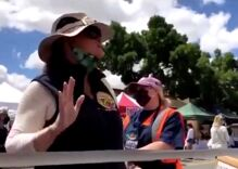 """""""Farmers Market Karen"""" goes off on cookie vendor for giving away rainbow flags"""