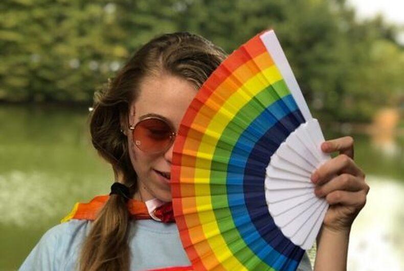 Amanda Skinner's daughter at Atlanta Pride 2019.