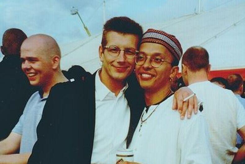 Julian Hair (left) and David Warren (right), EuroPride 1992