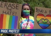 After a man ripped down a small town's Pride flag, the residents took to the streets