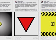 """Facebook removed Pence & Trump's ads that used a Nazi triangle to promote """"organized hate"""""""