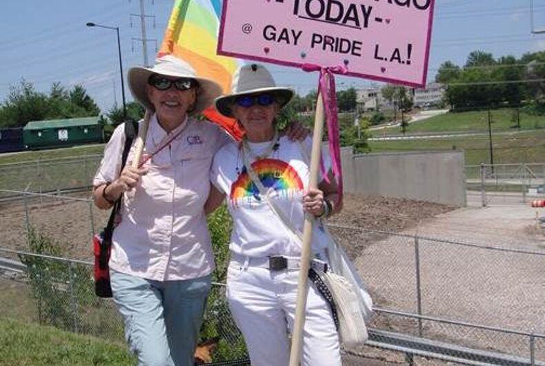 Dianne & Barb DiGregorio at the 2011 Knox Pridefest.