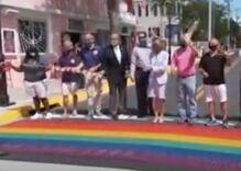 Key West just upgraded their rainbow crosswalks in a major way