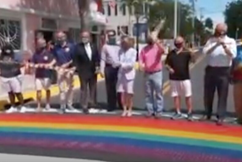 The Key West rainbow crosswalks