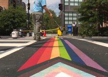 Trans & POC inclusive rainbow crosswalk installed in D.C.