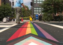 Trans & POC inclusive rainbow crosswalk installed in D.C.