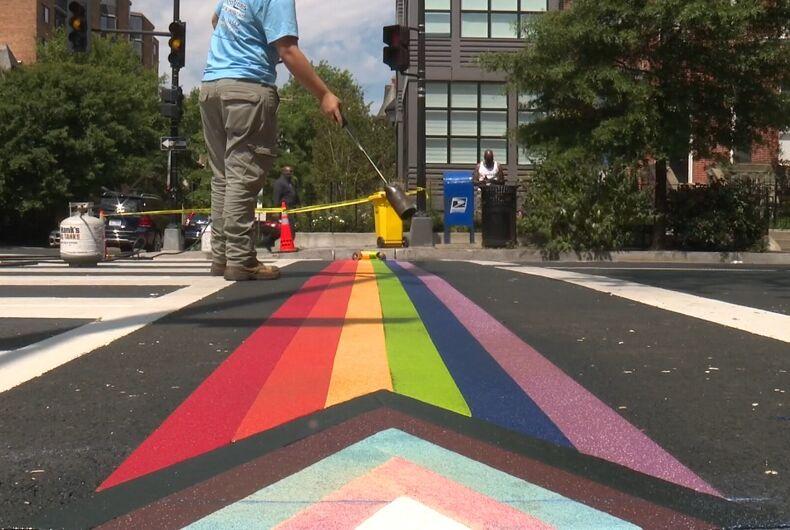 The crosswalk installed in DC