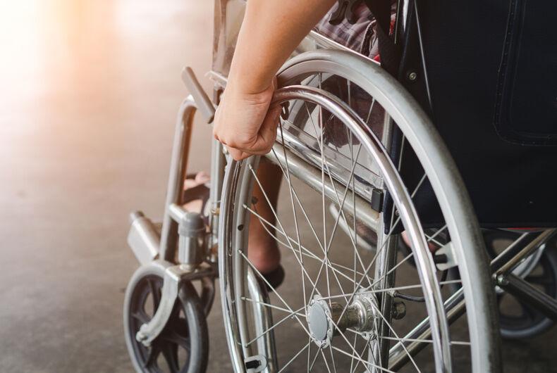 transgender woman, University of Pennsylvania Hospital, wheelchair