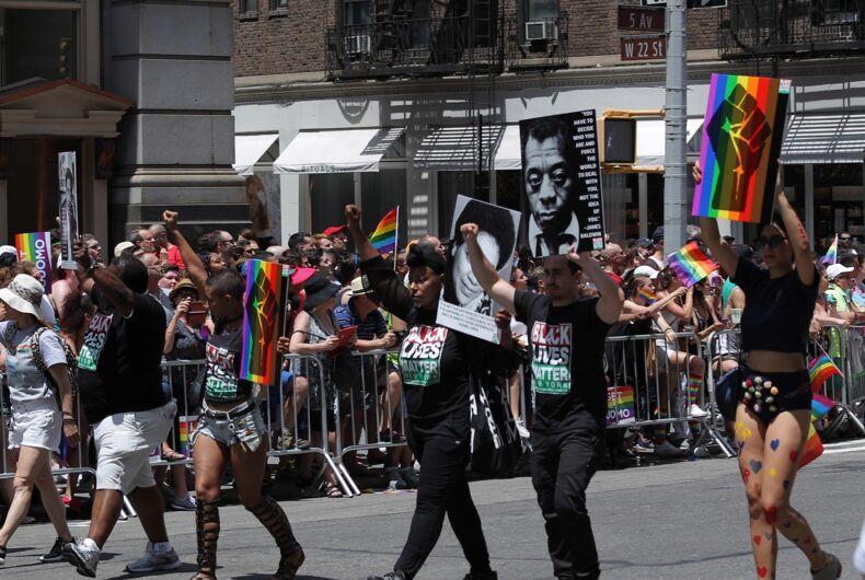 Los Angeles Pride, Black Lives Matter protest