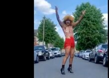 """Neighbors were left speechless when he started performing Tina Turner's """"Proud Mary"""" in the street"""