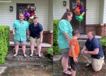 Lesbian couple's marriage proposal video goes viral thanks to one really curious kid
