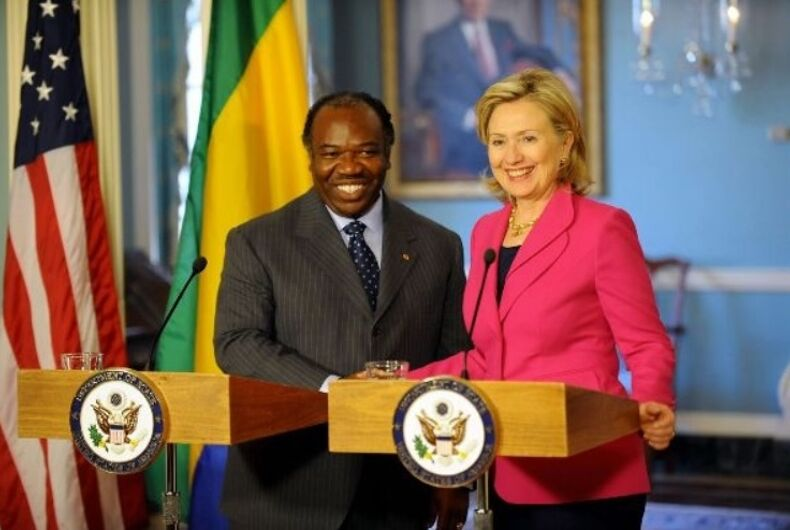 Ali Bongo and Hillary Clinton