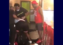 """Fast food worker fired after mob beat him & called him a """"fa***t"""" in shocking video"""