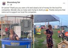 People paid to dunk a man in a dress at a county fair to mock the state's top COVID doctor
