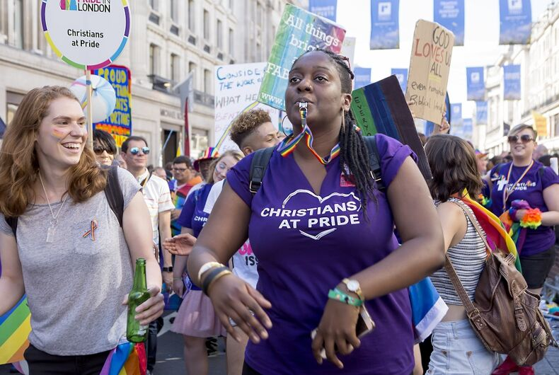 Queer Christians make themselves visible at Pride in London in 2017.