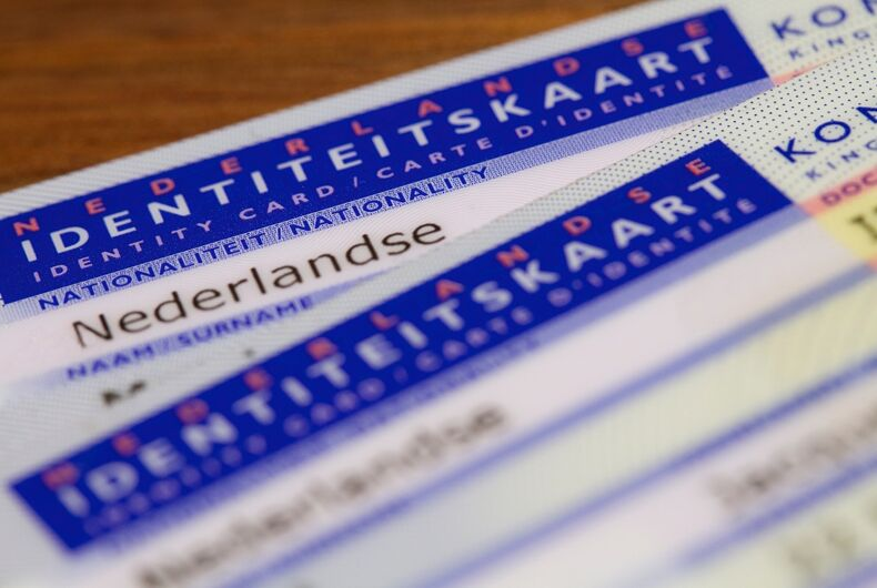 A Dutch ID card