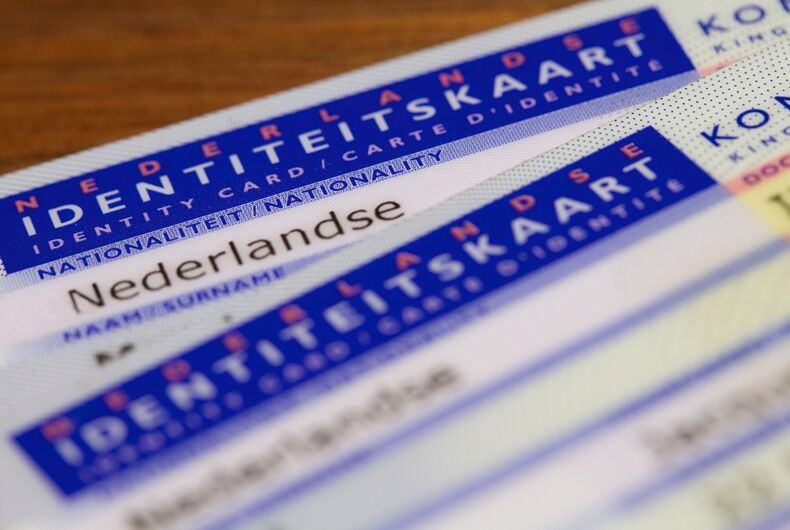 A Dutch ID card