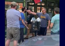 Unhinged man shouts racist & anti-gay slurs at restaurant as police refuse to intervene