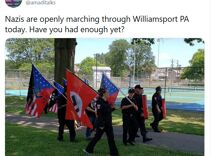 """Nazis marched in Pennsylvania & chanted """"F**k the gays"""""""