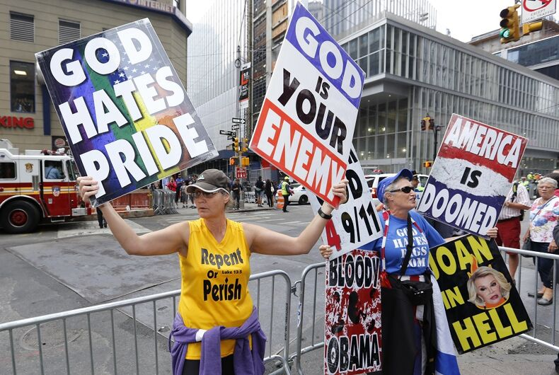The Westboro Baptist Church at a 2014 protest
