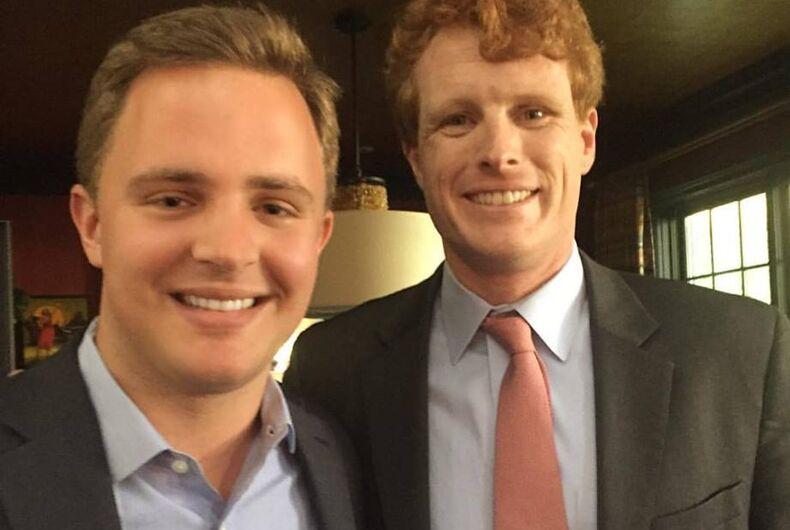 The author with Congressman Joe Kennedy (D-MA)