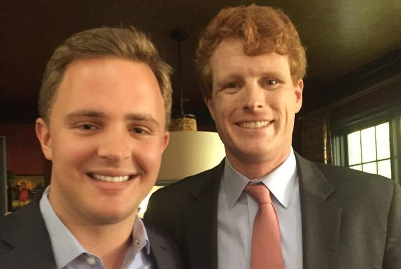 The author with Congressman Joe Kennedy (D-MA)
