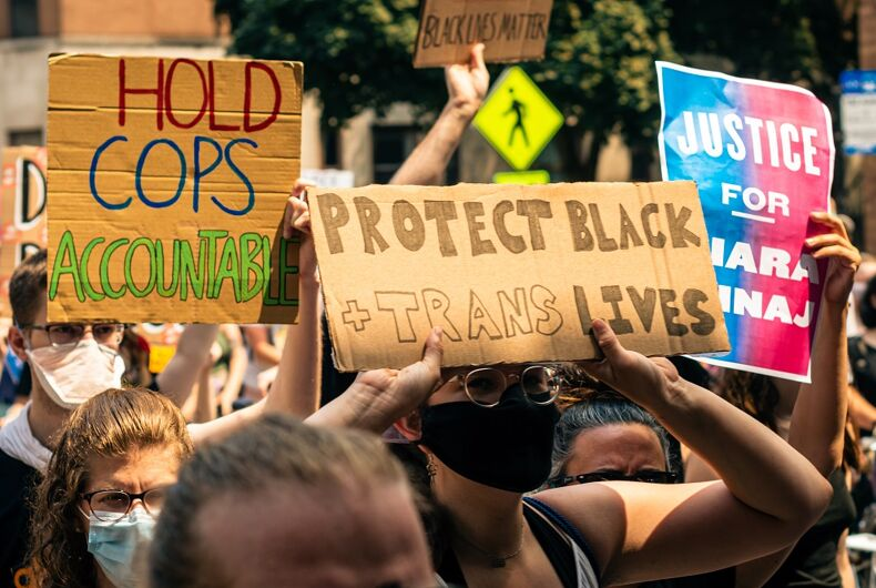 June 28, 2020 - Protestors march for Black and trans lives in Chicago.