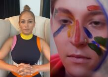 Jennifer Lopez is a proud auntie when she does an introduction for her non-binary nibling