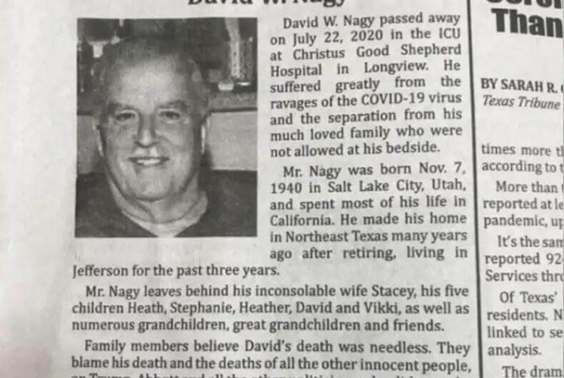 The obituary of David Nagy