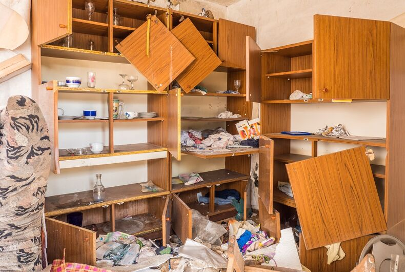 A home destroyed in a burglary