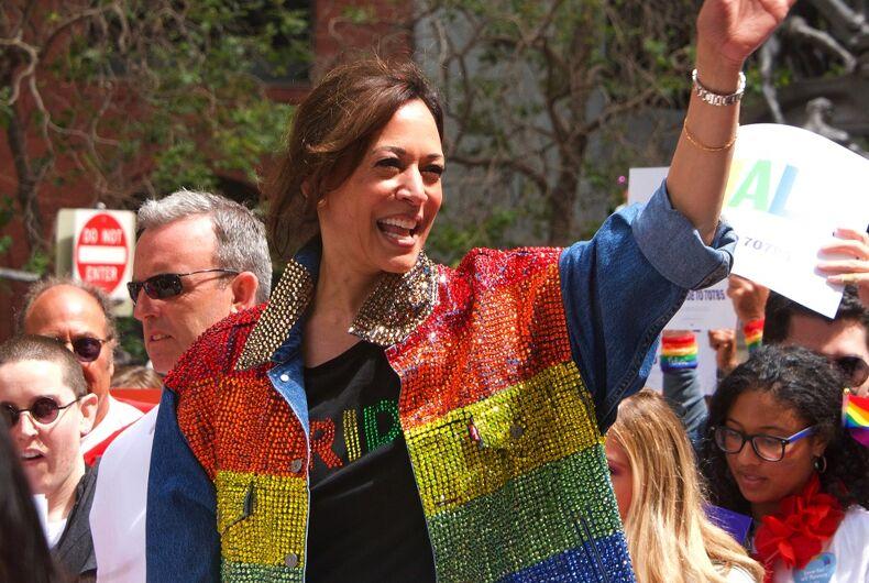 Sen. Kamala Harris attended Pride in San Francisco in 2019 in a stunning rainbow vest.